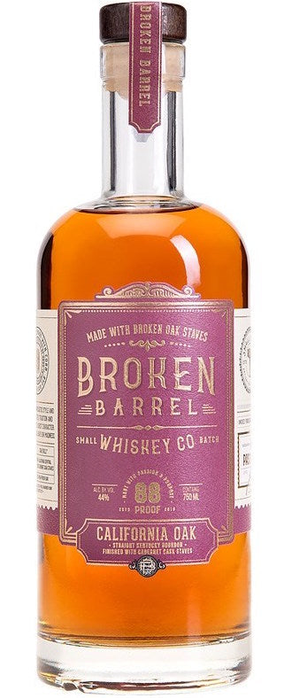 Broken Barrel California Oak Whiskey 750ml