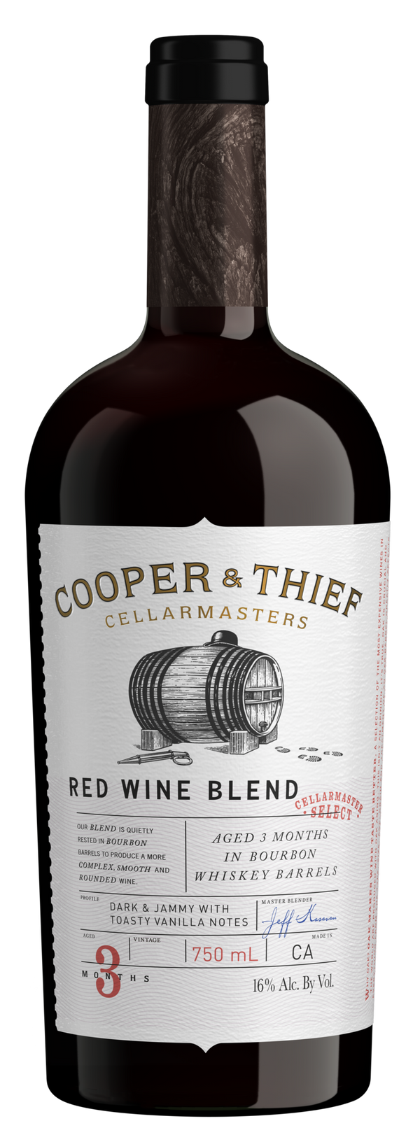 Cooper & Thief Red Blend Bourbon Barrel Finish 2017 750ml