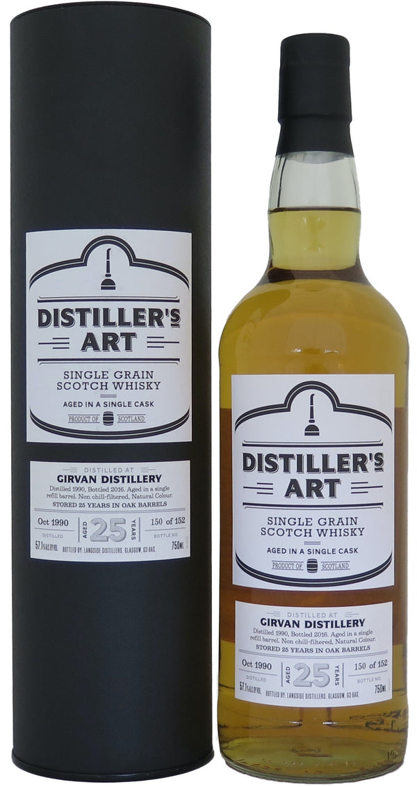 Distiller's Art Girvan Single Grain Scotch Whiskey 1990 25yr 750ml