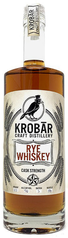 Krobar Cask Strength Rye Whiskey 750ml