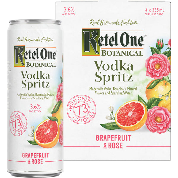 Ketel One Grapefruit & Rose Vodka Spritz 4pk Cans