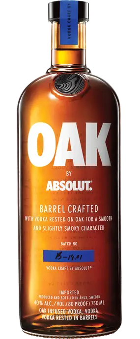 Absolut Barrel Crafted Oak Vodka 750ml