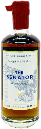 The Senator Barrel Proof Straight Rye Whiskey 6Yr 750ml