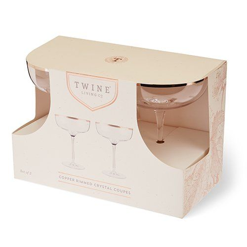 Twine Floral Coupe Glass 2pk