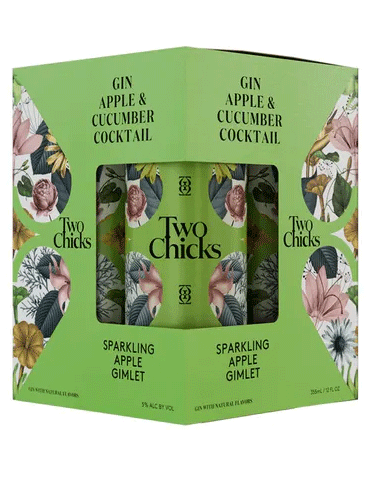 Two Chicks Gin Apple Gimlet 12oz 4Pk