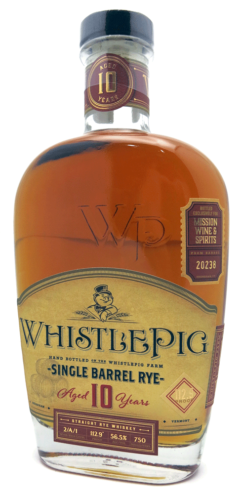 Whistlepig Rye 10 Year Mission Barrel Select 103 Proof 750ml