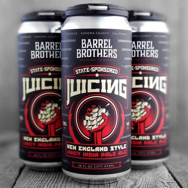 Barrel Bros State-Sponsored Juicing Hazy IPA 16oz Can