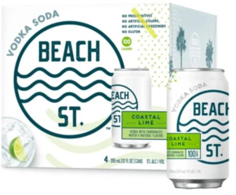 Beach Street Coastal Lime 4pk Cans