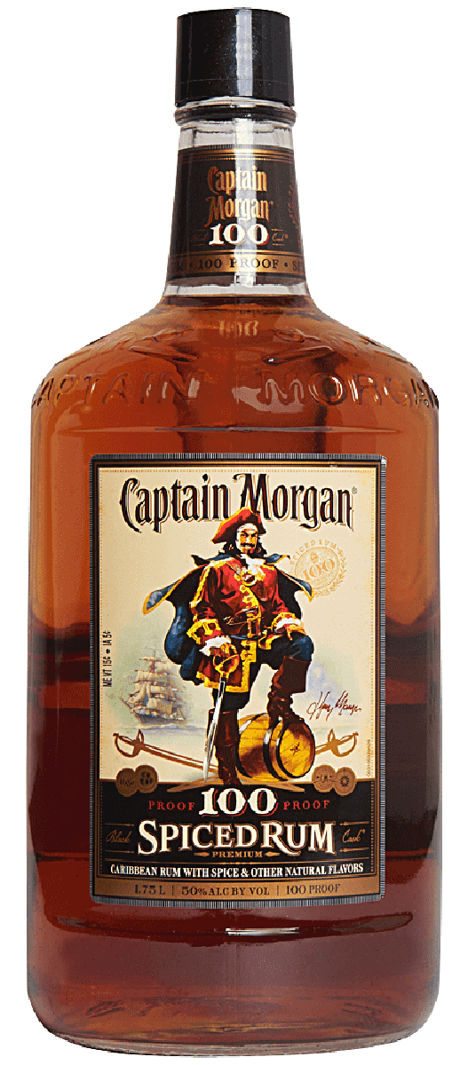 Captain Morgan Rum 100 Proof 1.75L