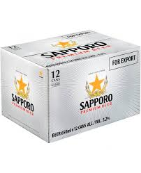 Sapporo 12pk Cans