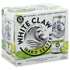 White Claw Hard Seltzer Natural Lime 6pk Cans