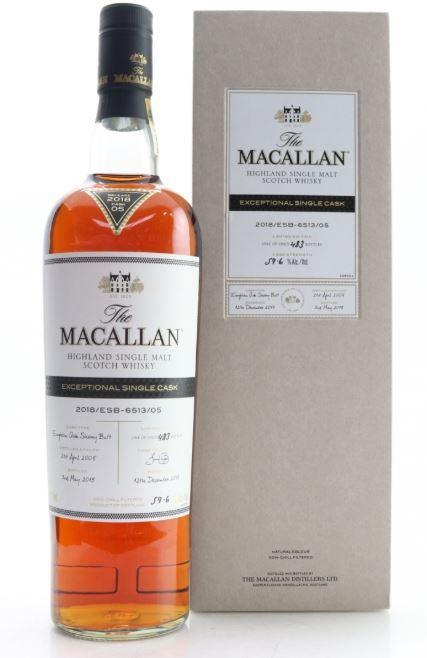 The Macallan Exceptional Single Cask 2018 ESB-6513/05 750ml