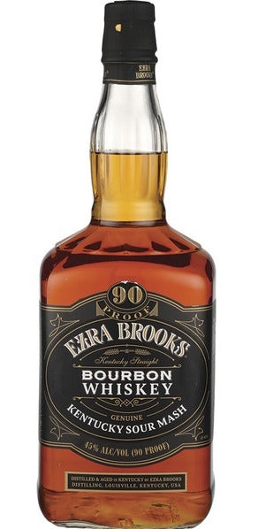 Ezra Brooks Black 90 Proof Kentucky Bourbon 1.75L