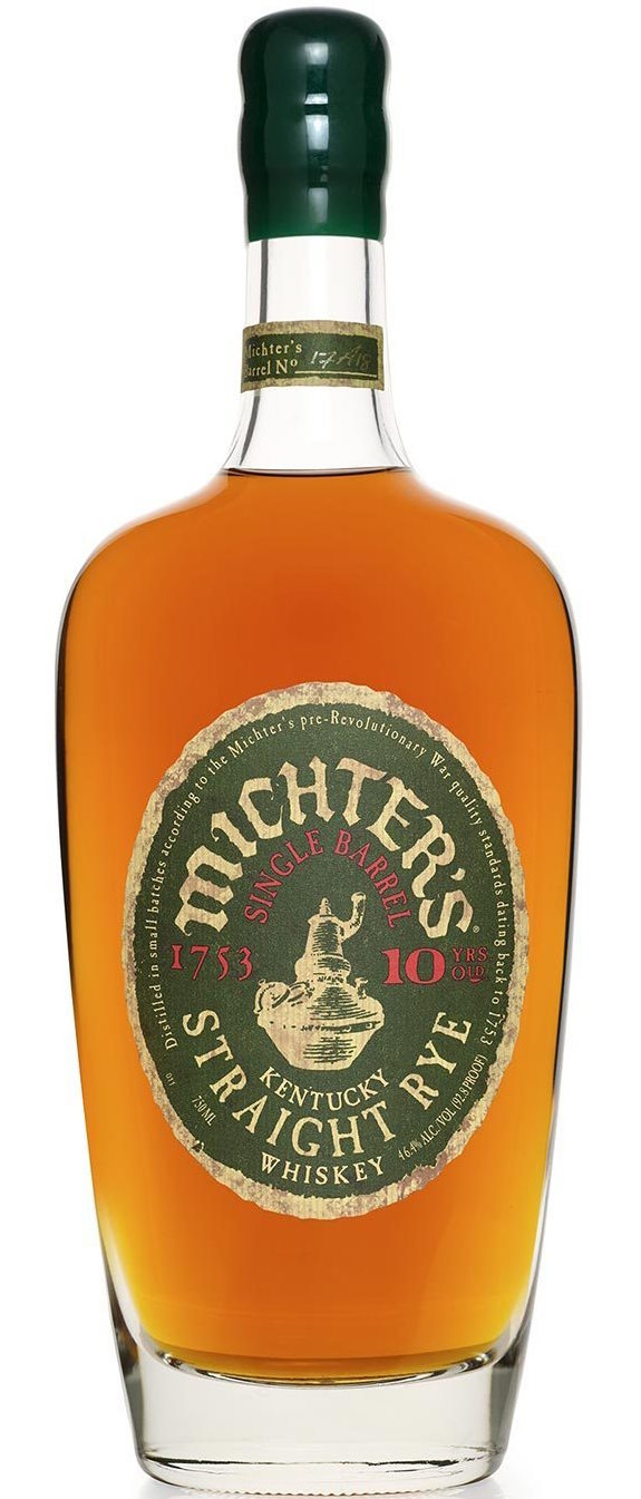 Michter's 10 Year Old Single Barrel Rye Whiskey 750ml