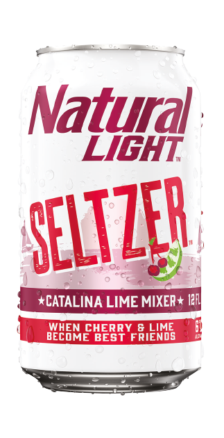 Natuaral Light Lime Seltzer 25oz