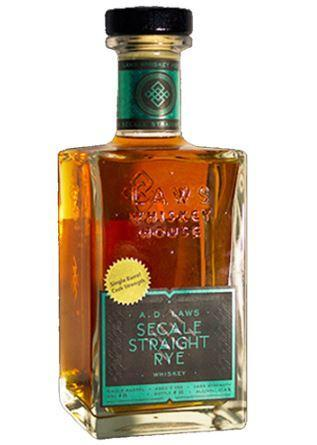 A.D. Laws Secale Straight Rye Whiskey 750ml
