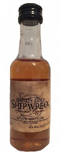 Brinley Gold Shipwreck Spiced Rum 50ml