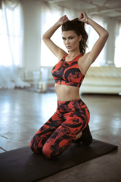 Brush Strokes Activewear Set