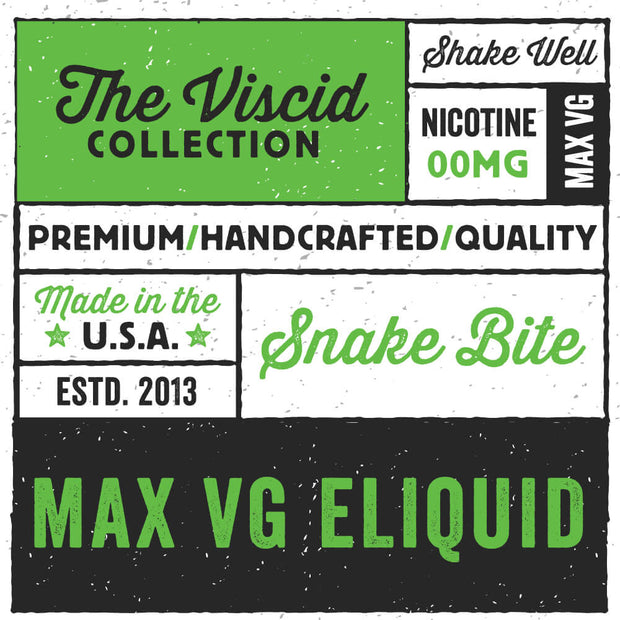 Snake Bite eLiquid The Viscid Collection | Rasta Vapors