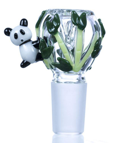 Panda Glass Bowl | Rasta Vapors