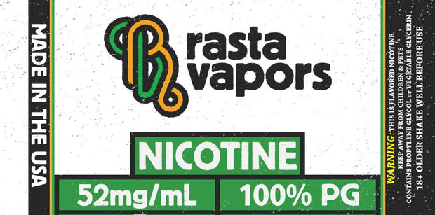 100% USA Made Nicotine 100% PG | Rasta Vapors