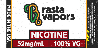 100% USA Made Nicotine 100% VG | Rasta Vapors