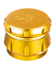 Orange 4-Piece Diamond Crest Aluminum Grinder | Rasta Vapors