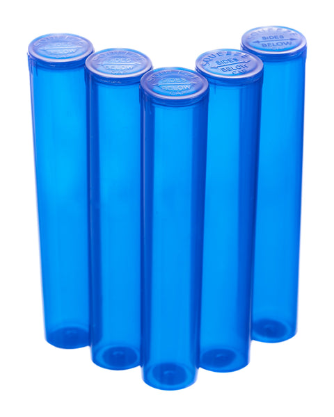 98mm pop top vials - 5 ct. Blue | Rasta Vapors