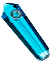 Blue Quartz Crystal Stone Pipe | Rasta Vapors