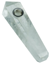 White Quartz Crystal Stone Pipe