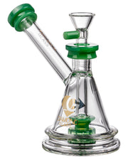 Diamond Glass Gavel Hammer Bubbler Jade | Rasta Vapors