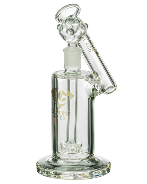 Diamond Glass Showerhead Perc Sidecar Bubbler | Rasta Vapors