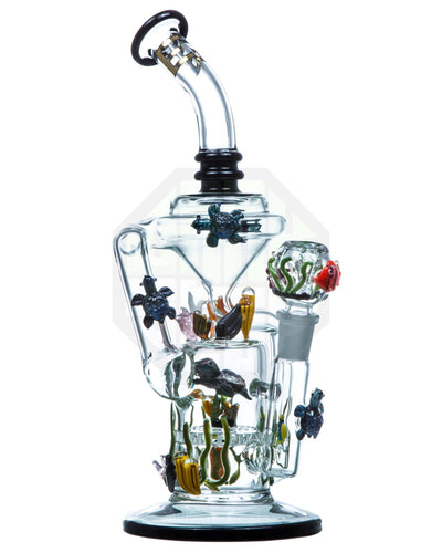 california current recycler by empire glassworks | Rasta Vapors