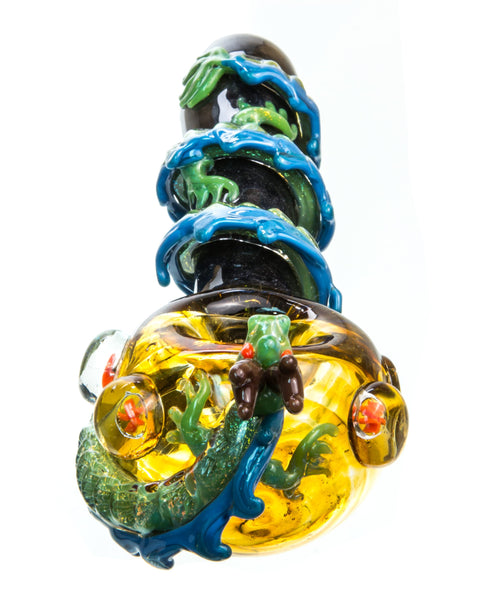 Dragon Wrapped Glass Pipe | Rasta Vapors