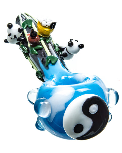 Empire Glassworks - Yin & Yang Panda Pipe | Rasta Vapors