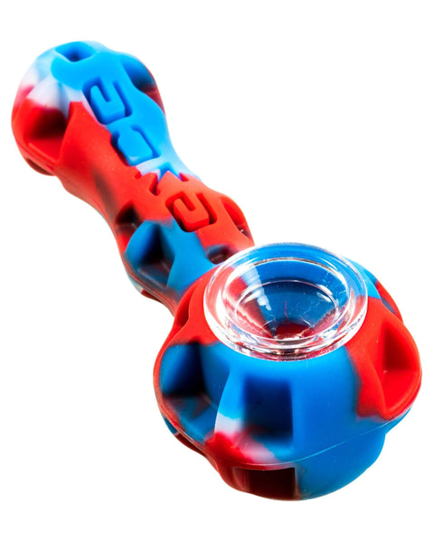 red & blue silicone pipe