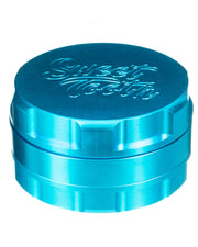 Teal 3-Piece Large Radial Teeth Aluminum Grinder | Rasta Vapors