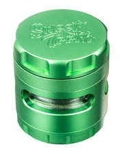 4-Piece Large Radial Teeth Aluminum Grinder | Rasta Vapors