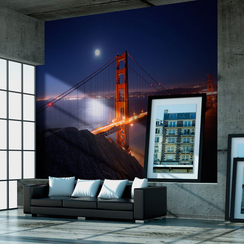 Papier peint - Golden Gate Bridge de nuit