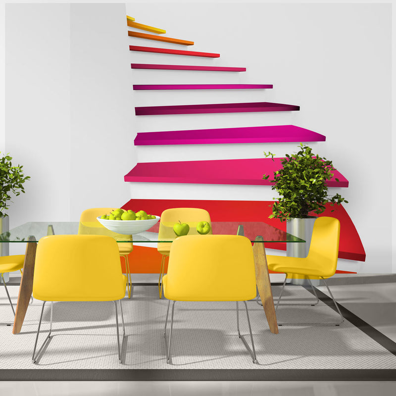 Papier peint - Colorful stairs