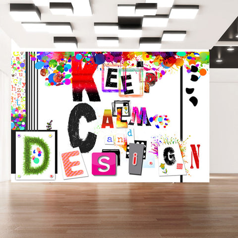 Papier peint - Keep Calm and Design