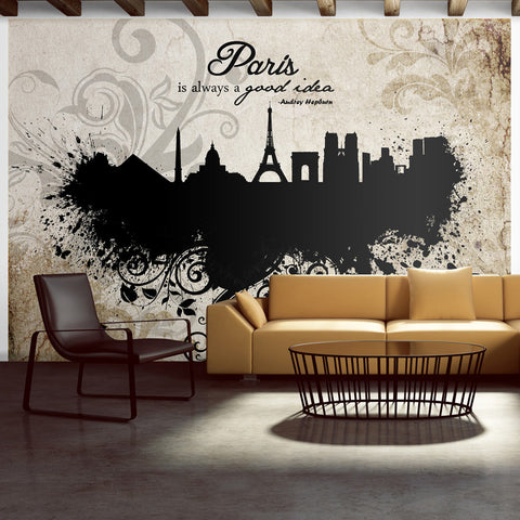 Papier peint - Paris is always a good idea - vintage