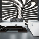 Papier peint - Black and white swirl