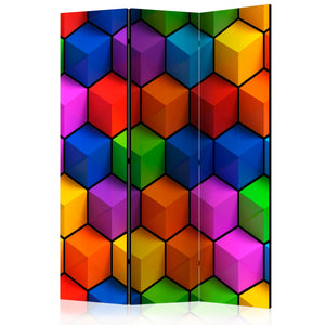 Paravent 3 volets - Colorful Geometric Boxes [Room Dividers]