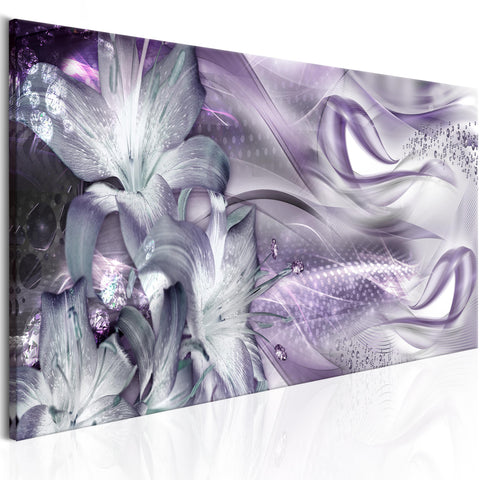 Tableau - Lilies and Waves (1 Part) Narrow Pale Violet