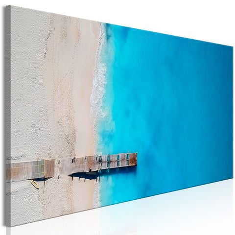 Tableau - Sea and Wooden Bridge (1 Part) Narrow Blue