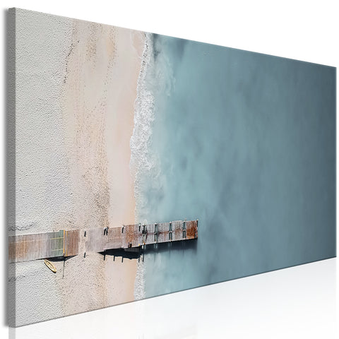 Tableau - Sea and Wooden Bridge (1 Part) Narrow Grey