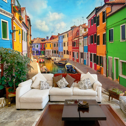 Papier peint -  Colorful Canal in Burano