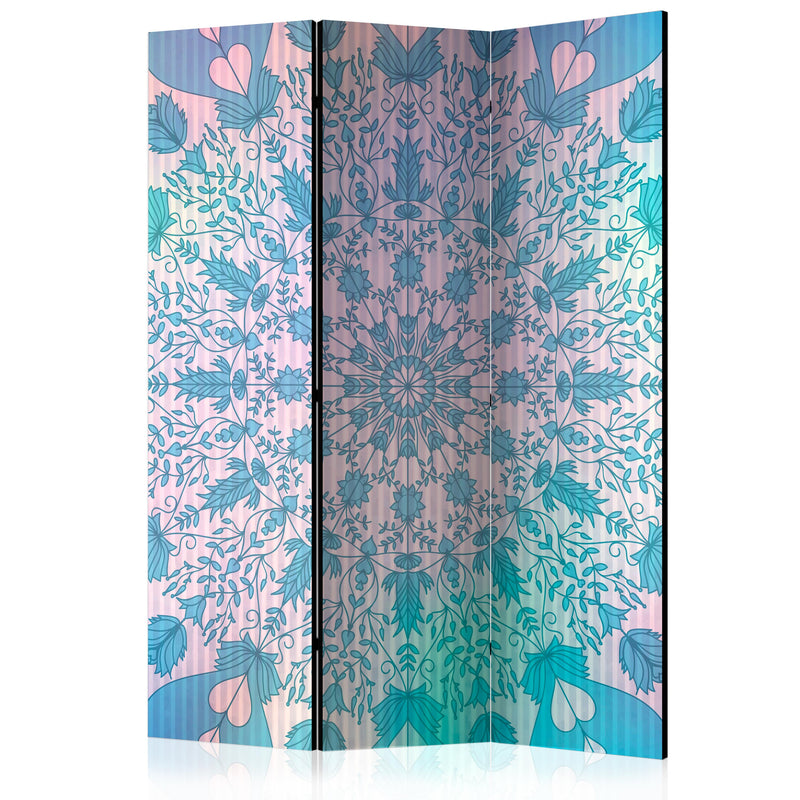 Paravent 3 volets - Girly Mandala (Blue) [Room Dividers]