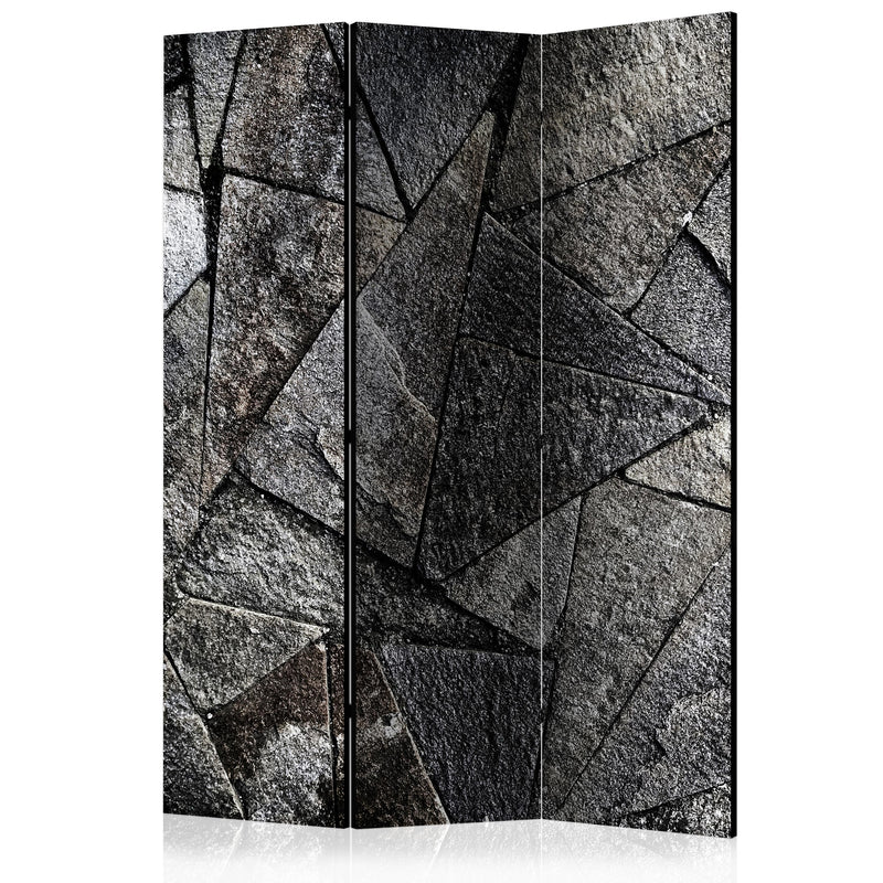 Paravent 3 volets - Pavement Tiles (Grey) [Room Dividers]